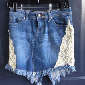 Candies denim skirt with split back